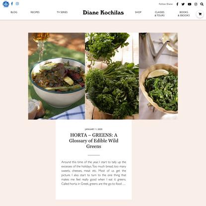 HORTA – GREENS: A Glossary of Edible Wild Greens