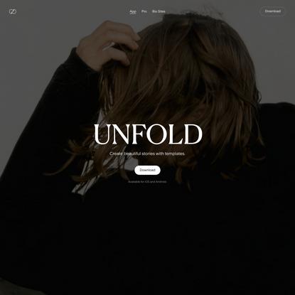 Unfold — Toolkit for Storytellers