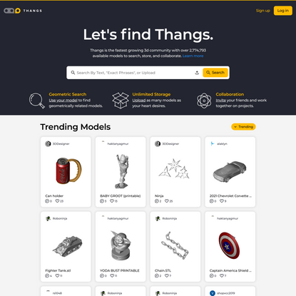 Thangs   Free 3D model community   Geometric Search