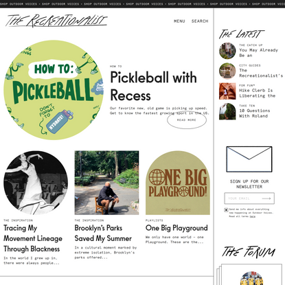 The Recreationalist – The Resource for Recreation