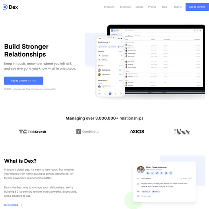 Dex: the personal CRM you'll want to use.