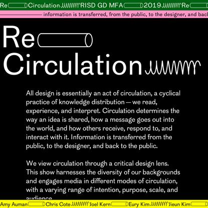 reCirculation | RISD GD MFA 2019