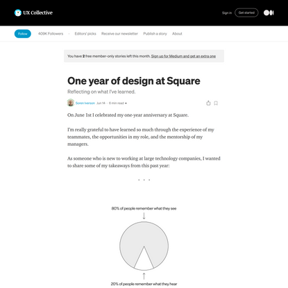 One year of design at Square. Reflecting on what I've learned | by Soren Iverson | Jun, 2021 | UX Collective