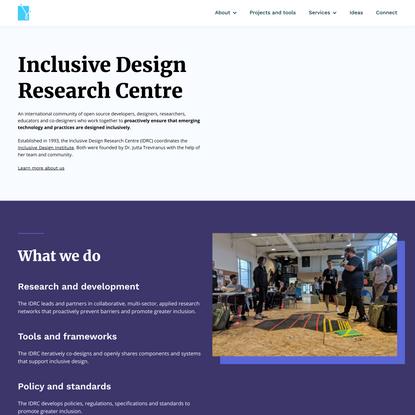 Inclusive Design Research Centre