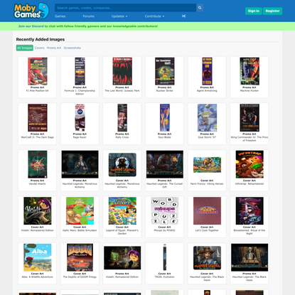 Recently Contributed Images - MobyGames