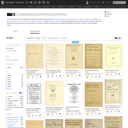 Cookbooks and Home Economics : Free Texts : Free Download, Borrow and Streaming : Internet Archive