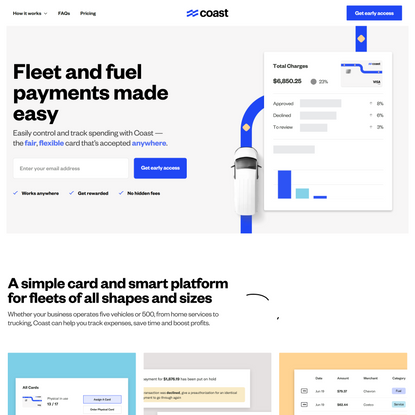 The fair, transparent fleet and fuel card - Coast