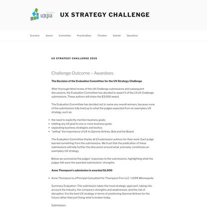 UX Strategy Challenge