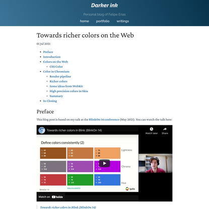 Towards richer colors on the Web   Darker Ink