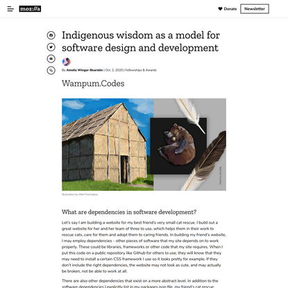 Indigenous wisdom as a model for software design and development