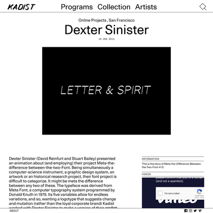 Dexter Sinister – Kadist