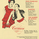 Don Pasquale, Martha, The Barber of Seville, and Carmen Poster, 1978
