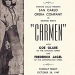 palace theater san carlo opera company carmen 1947 albany ny 1940s