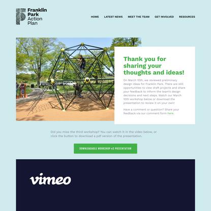 Franklin Park Action Plan