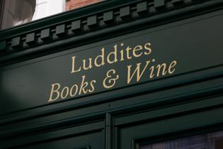 Vrints-Kolsteren, Luddites Books & Wine branding, 2019–20