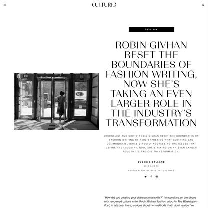 Robin Givhan Reset the Boundaries of Fashion Writing