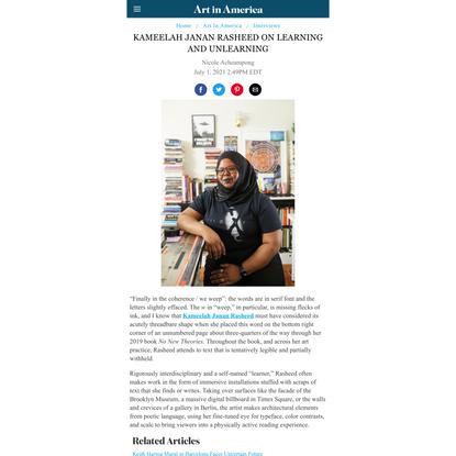 Kameelah Janan Rasheed on Learning and Unlearning