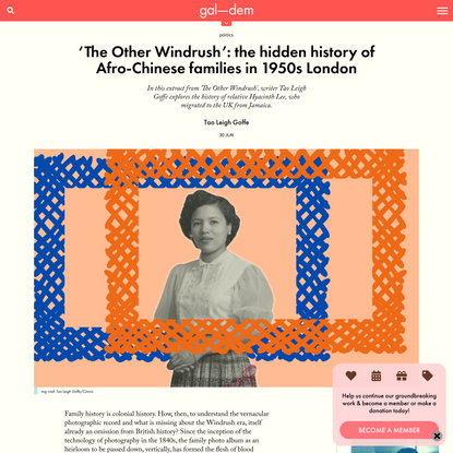 The hidden history of Afro-Chinese families in 1950s London | gal-dem