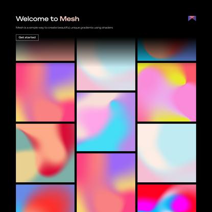 MESH - Create beautiful gradients