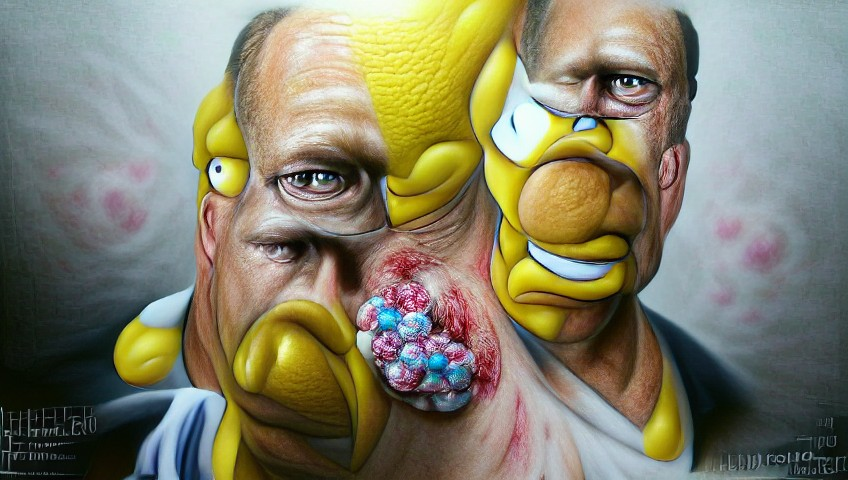 """""""hyperrealistic homer simpson"""" MSE VQGAN+CLIP z+quantize Text-to-Image"""