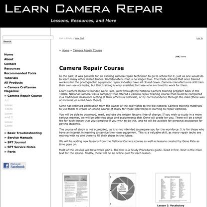Camera Repair Course | Learn Camera Repair