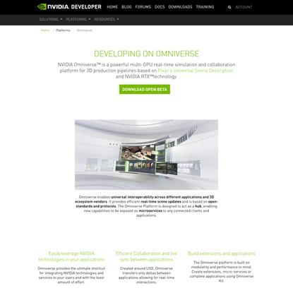 NVIDIA Omniverse™ Platform