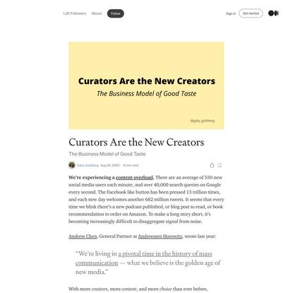 Curators Are the New Creators