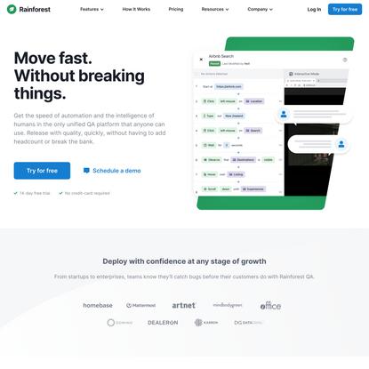 Cloud-Based QA Platform   Rainforest QA