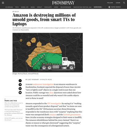 Amazon is destroying millions of unsold goods, from smart TVs to laptops