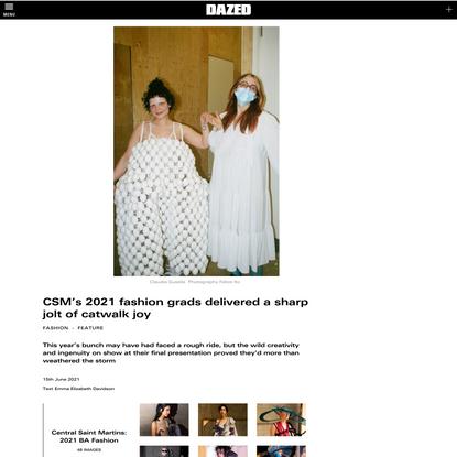 CSM's 2021 fashion grads delivered a sharp jolt of catwalk joy