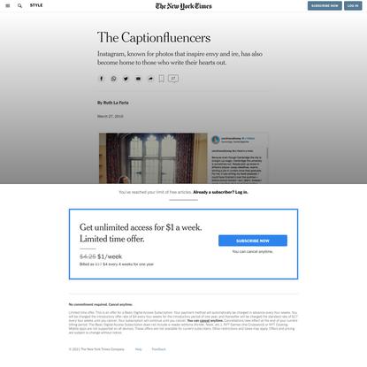 The Captionfluencers (Published 2019)