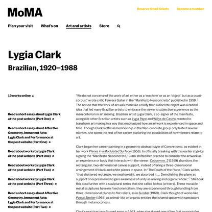 Lygia Clark | MoMA