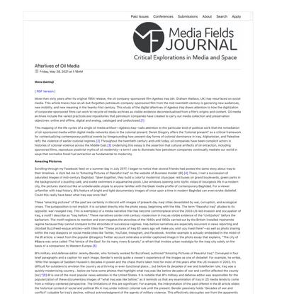 Afterlives of Oil Media - Mona Damluji
