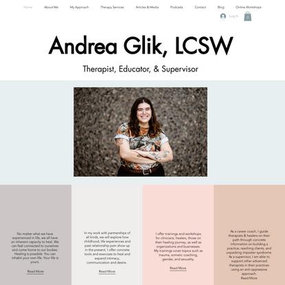 Therapy | Andrea Glik, LMSW | United States