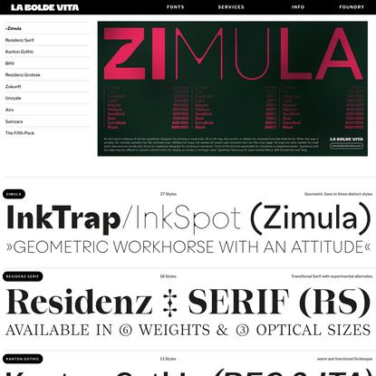Conceptual Display Typefaces — La Bolde Vita