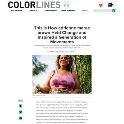 This is How adrienne maree brown Held Change and Inspired a Generation of Movements