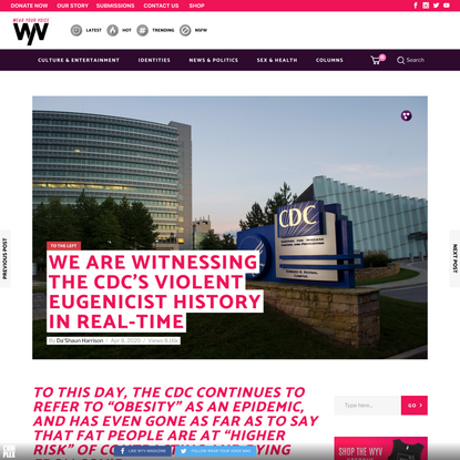 We are Witnessing The CDC's Violent Eugenicist History in Real-Time