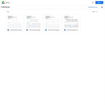 TYPEFACES - Google Drive