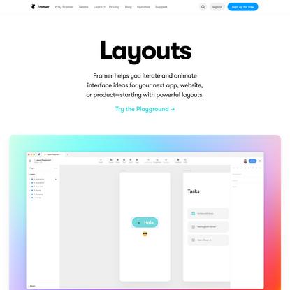 Layout | Framer