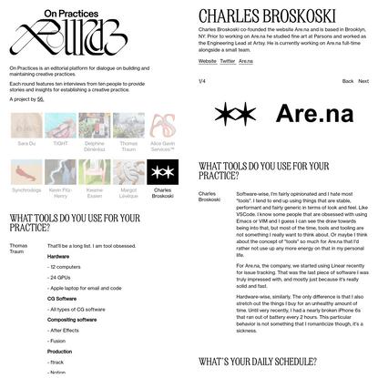 Charles Broskoski - On Practices