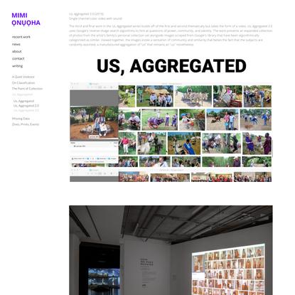 Us, Aggregated 3.0 (video) — MIMI ỌNỤỌHA