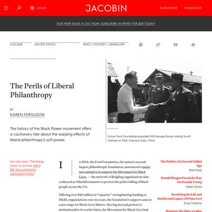 The Perils of Liberal Philanthropy