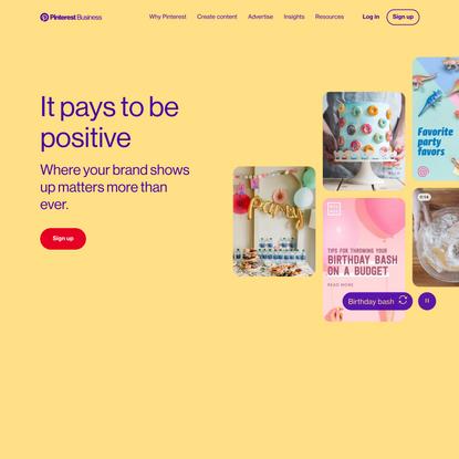 Marketing on Pinterest | Pinterest Business