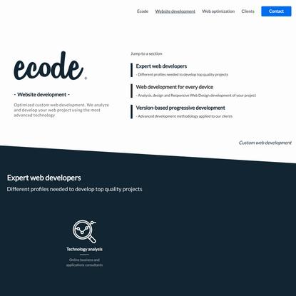 Website development - Ecode