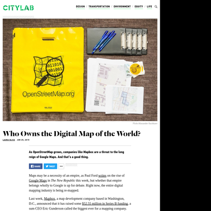 Who Owns the Digital Map of the World?