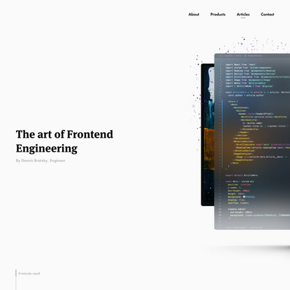 The art of Frontend Engineering
