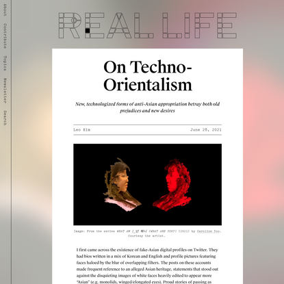 On Techno-Orientalism — Real Life
