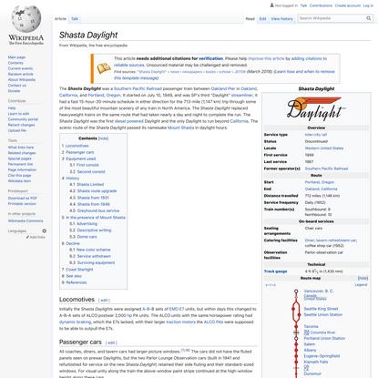 Shasta Daylight - Wikipedia