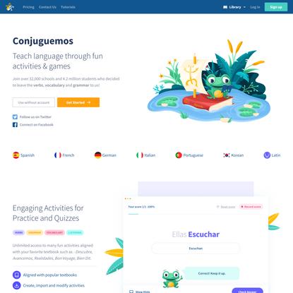 Home Page || Conjuguemos