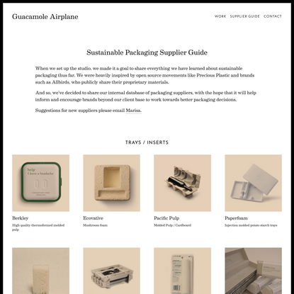 Sustainable Packaging Supplier Guide — Guacamole Airplane
